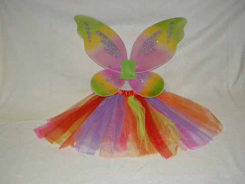 Rainbow Fairy Tutu and Wings Set (Each)