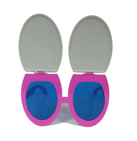 Toilet Seat Sunglasses Hot Pink and White (Each)