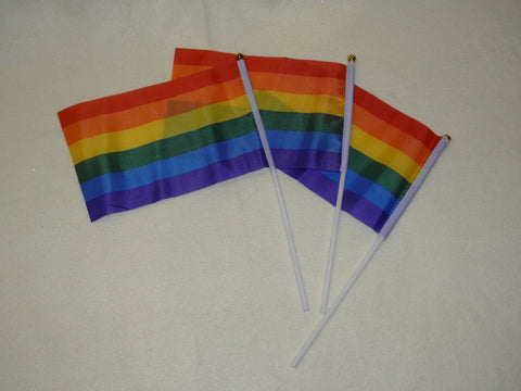 "Rainbow Flags 5.5 "" x 8"" (Dozen)"