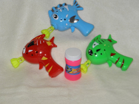Mini Fish Bubble Gun - Assorted Colors (Each)