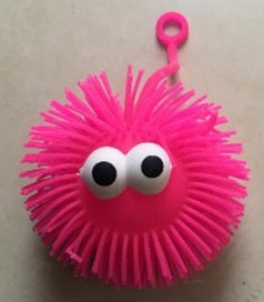 Spikey Squeeze Ball Yo-Yo with Face (Dozen)