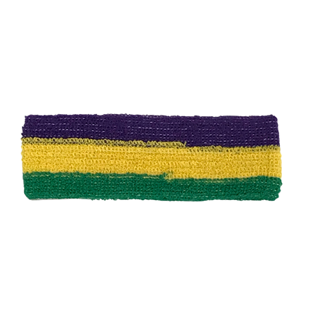 Headband - Purple Green and Gold (Each)