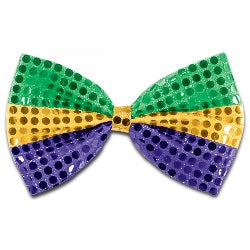 Purple, Green and Gold Sequin Bow Tie (Each)