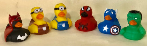 Super Hero and Minions Rubber Duck (Pack of 6)