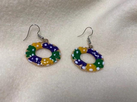 King Cake Earrings (Pair)