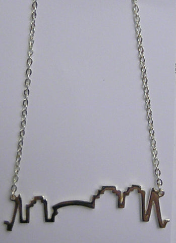 New Orleans Skyline Gold Vermeil Charm Necklace with 1.8mm Gold (Each)