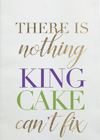 "'King Cake Can''t Fix Kitchen Towel 24"" x 18"" (Each)'"