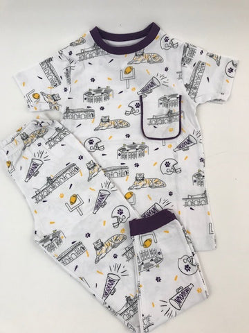 Purple & Gold LSU Organic Pajamas Size (Each)
