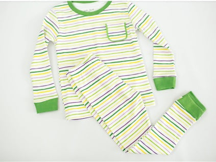 Mardi Gras Stripes Pajamas (Each)