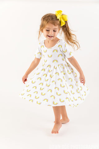 Mardi Gras Rainbow Organic Cotton Dress (Each)