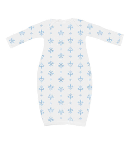 Blue Fleur de Lis Organic Cotton Daygown (Each)