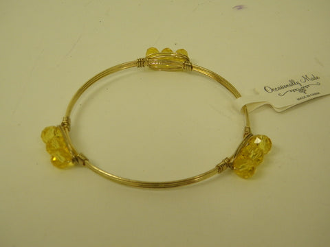 Yellow Stone Wire Bracelet (Each)
