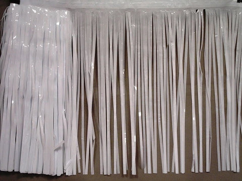 "10' x 15"" White Fringe - 1 Ply (EACH)"