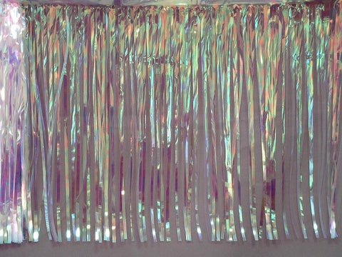 "'10'' x 15"" Clear Iridescent Fringe - 1 Ply (Each)'"