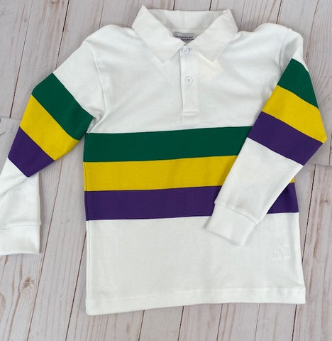 Purple, Green, and Gold Long Sleeve Children's Rugby Shirt (Each)