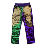 Purple, Green and Gold Flip Children's Sequin Leggings (Each)