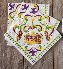Mardi Gras Paper Napkins (Pack of 20)