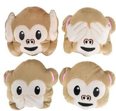 "5"" Plush Emoticon Monkey (Dozen)"