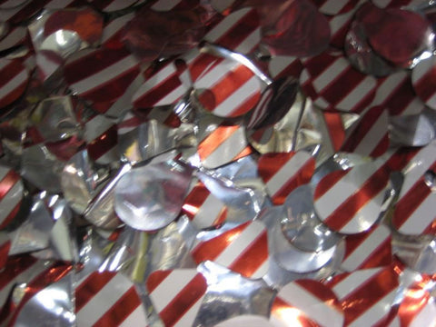 Candy Cane Metallic Petal Paper 30' X 3' (Roll)