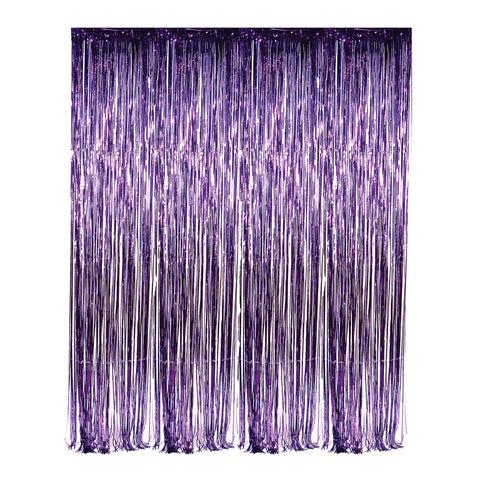 Purple Foil Fringe 3' x 8' Curtain (Each)