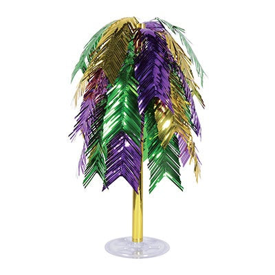 Purple, Green and Gold Metallic Feather Cascade Centerpiece (Each)