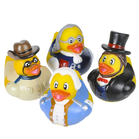 "2"" US Historical Figure Rubber Ducky (Dozen)"