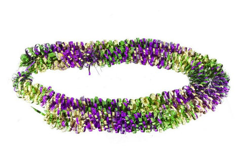 Garland Purple, Green and Gold with Fleur de Lis (Each)