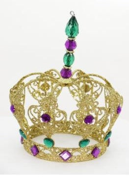 "8"" Mardi Gras Jeweled Crown (Each)"