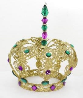 "9"" Mardi Gras Jeweled Crown (Each)"