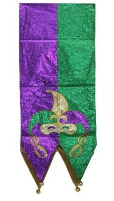"Mardi Gras Mask Table Runner - 13"" x 6' (Each)"