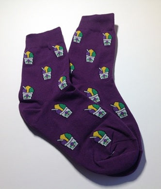 Purple Snoball Sock (Pair)