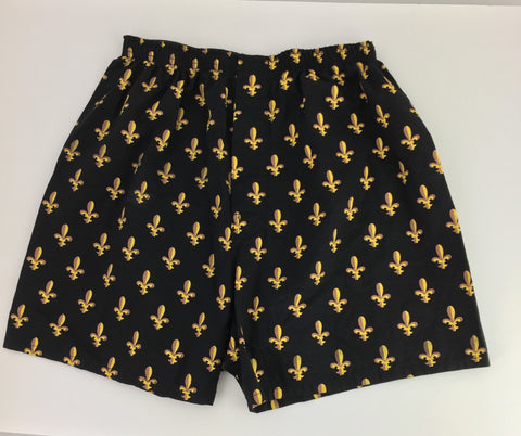 Black and Gold Fleur de Lis Boxers (Each)