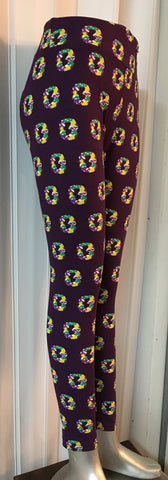 King Cake Leggings Adult Curvy (Each)