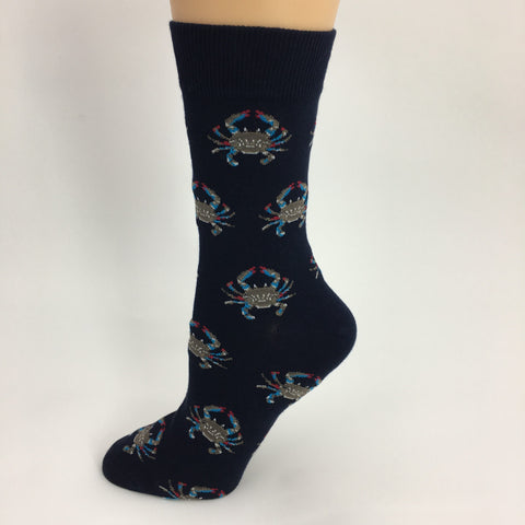 Louisiana Crab Socks - Navy (Each)
