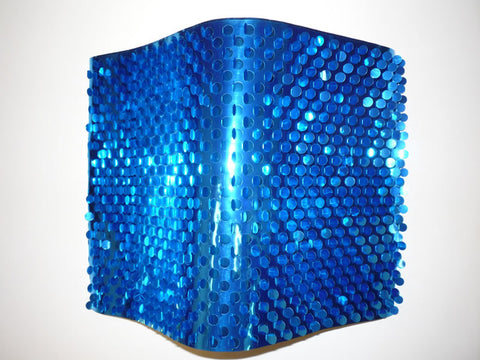 "Blue Metallic Sequin Sheeting 10 Yards X 8"" (Roll)"
