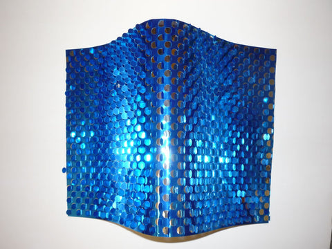 "Blue/Silver Metallic Sequin Sheeting 10 Yards X 8"" (Roll)"