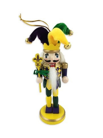 "6"" Mardi Gras Nutcracker Ornament (Each)"