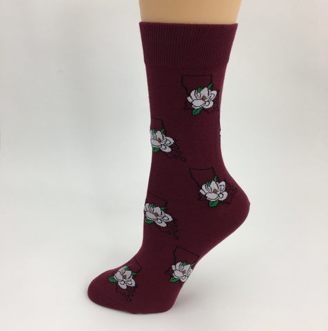 Louisiana Magnolia Socks (Pair)