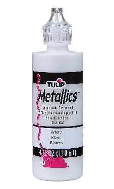 4oz Metallic Paint - White (Each)