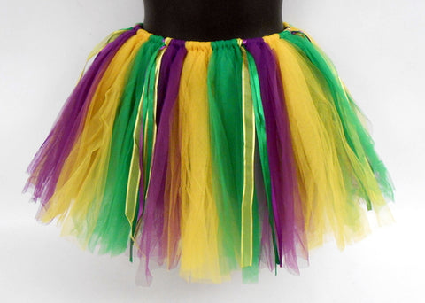 Purple, Green and Gold 90 Panel Tutu (Each)