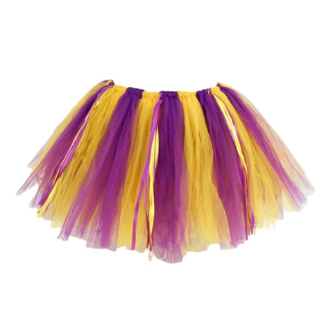Purple and Gold 90 Panel Tutu (Each)