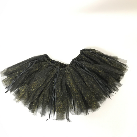 Black with Gold Glitter 72 Panel Tutu (Each)