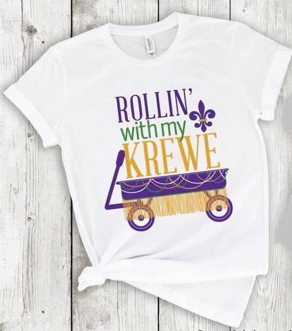 Rolling with my Krewe T-Shirt (Each)