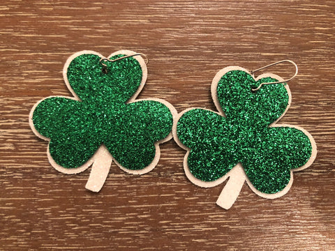 St. Patrick's Day Shamrock Earrings (Each)