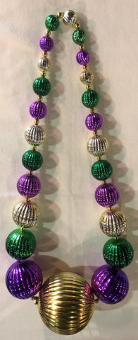 Purple, Green and Gold Onion Ball Beads