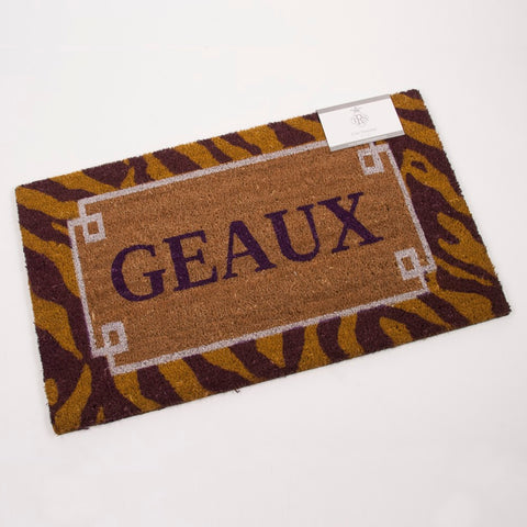 "Geaux Coir Doormat Purple/Yellow 30""x18' (Each)"