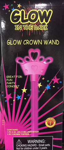 Hot Pink Crown Glow Wand