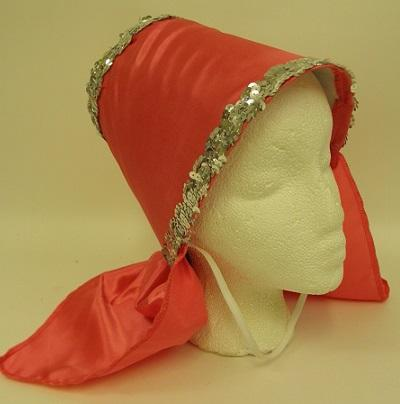 Hot Pink Costume Hat with Silver Sequin Trim (Each)