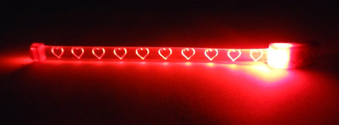 LED Red Bracelet with Hearts