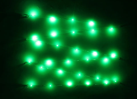 LED Green Battery Pack Lights - 9' Long